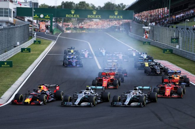 2019年F1第12戦ハンガリーGP決勝レーススタート