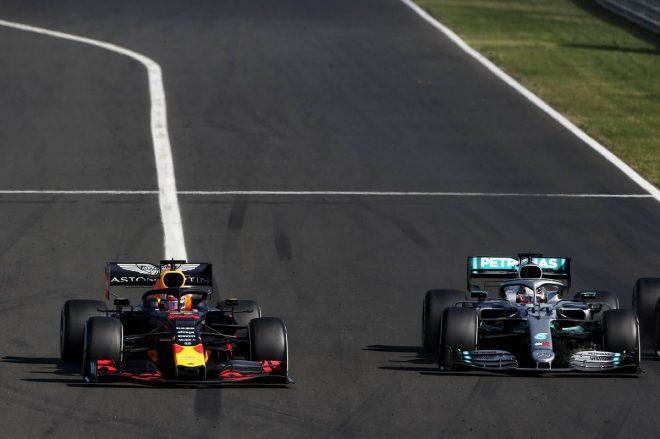 2019年F1第12戦ハンガリーGP決勝 ルイス・ハミルトン、マックス・フェルスタッペンのバトル