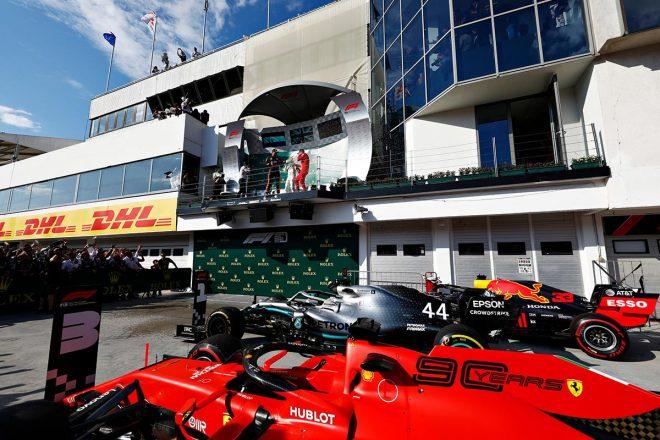 2019年F1第12戦ハンガリーGP マックス・フェルスタッペン(レッドブル・ホンダ)は2位表彰台