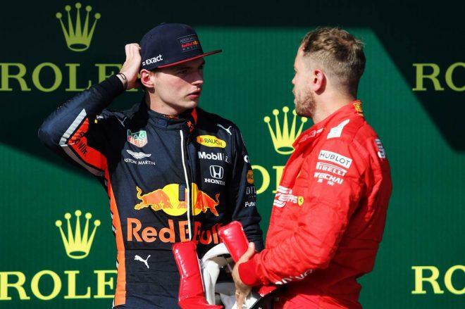 2019年F1第12戦ハンガリーGP決勝 2位:マックス・フェルスタッペン、3位:セバスチャン・ベッテル