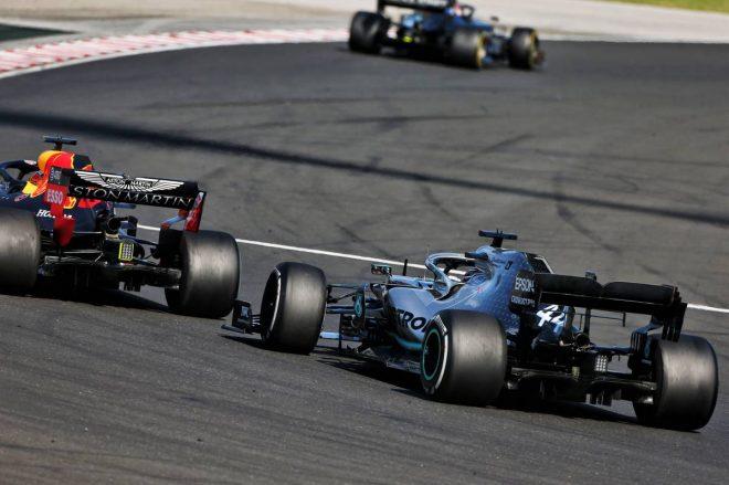 2019年F1第12戦ハンガリーGP マックス・フェルスタッペンとルイス・ハミルトンのバトル