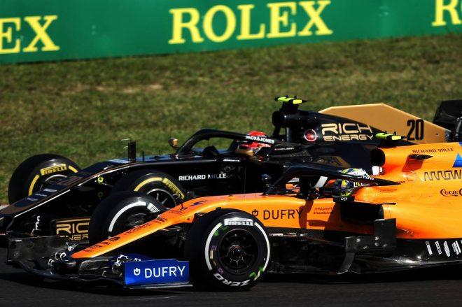 2019年F1第12戦ハンガリーGP ランド・ノリスとケビン・マグヌッセンのバトル