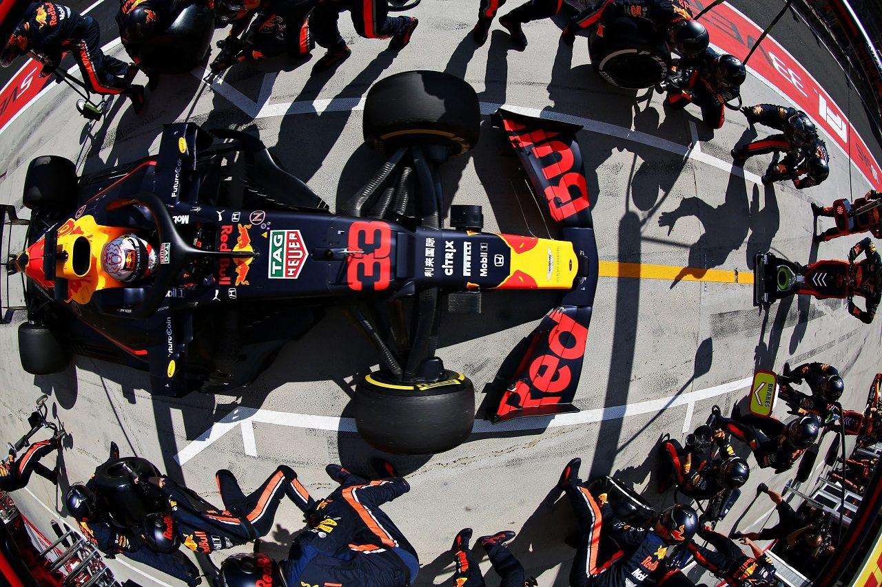 2019年F1第12戦ハンガリーGP マックス・フェルスタッペン(レッドブル・ホンダ)のピットストップ