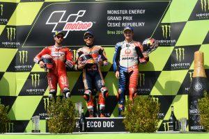 MotoGP | マルケス、レースディレイでも「落ち着いていた」/MotoGP第10戦チェコGP 決勝トップ3コメント