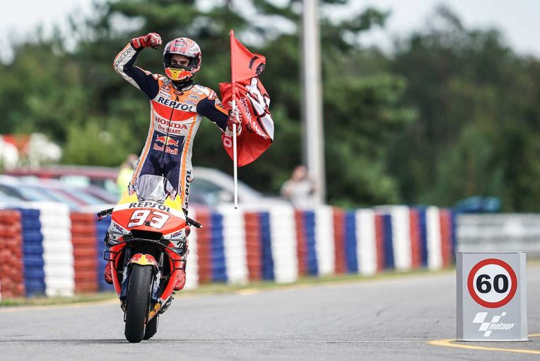 MotoGP | MotoGPチェコGP:マルケスがスタート直前に変わった路面状況のなか、2戦連続ポール・トゥ・ウイン