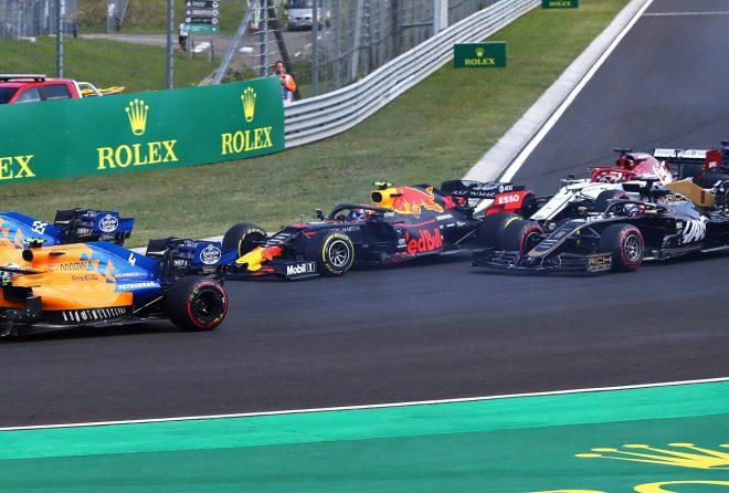 2019年F1第12戦ハンガリーGP決勝スタート直後のピエール・ガスリー(レッドブル・ホンダ)