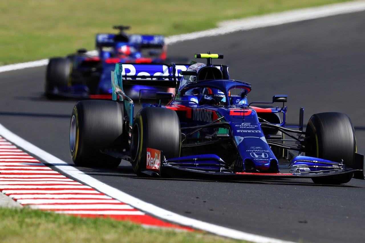 2019年F1第12戦ハンガリーGP日曜 アレクサンダー・アルボンとダニール・クビアト(トロロッソ・ホンダ)