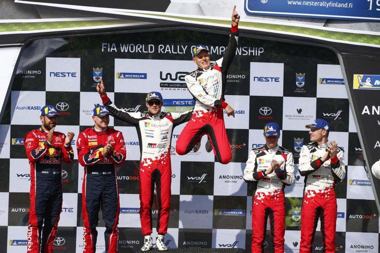 ラリー/WRC | WRC:トヨタ、タナクとラトバラが1-3フィニッシュ。「ホーム3連勝は別格」とマキネン