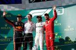 2019年F1第12戦ハンガリーGP ルイス・ハミルトン(メルセデス)が優勝、2位マックス・フェルスタッペン(レッドブル・ホンダ)、3位セバスチャン・ベッテル(フェラーリ)