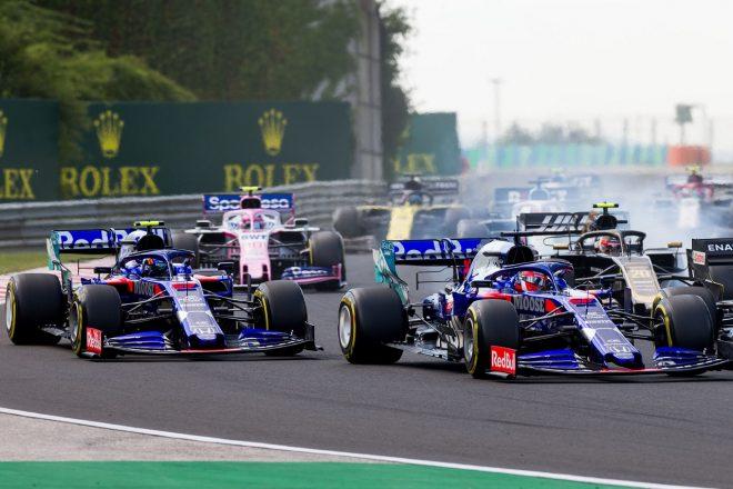 2019年F1第12戦ハンガリーGP日曜 決勝スタート直後のダニール・クビアト(トロロッソ・ホンダ)