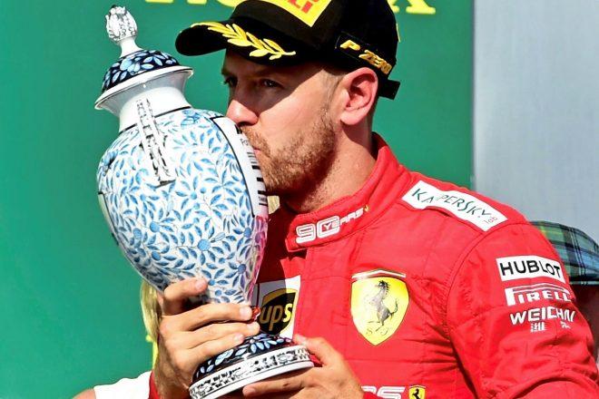 2019年F1第12戦ハンガリーGP セバスチャン・ベッテル(フェラーリ)が3位