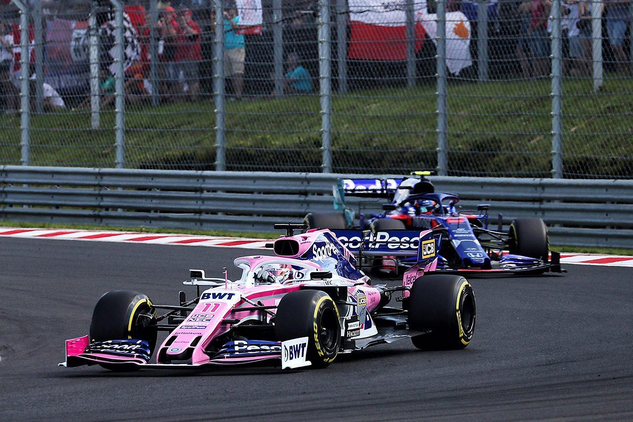 2019年F1第12戦ハンガリーGP セルジオ・ペレス(レーシングポイント)、アレクサンダー・アルボン(トロロッソ・ホンダ)