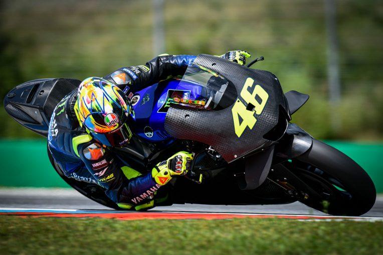 MotoGP | MotoGP:ヤマハの2020年型プロトタイプを走らせたロッシ「エンジン、シャシーのセッティングが異なる」