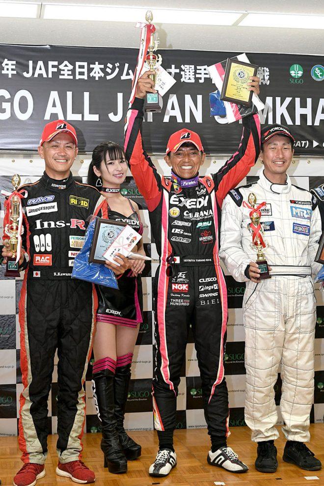全日本ジムカーナで通算112勝目を挙げた山野哲也(EXEDY 12D 124)