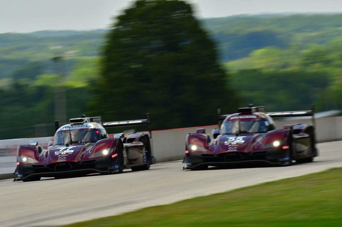 IMSA:ロード・アメリカで55号車マツダが2勝目、チームは3連勝。最多周回記録も更新