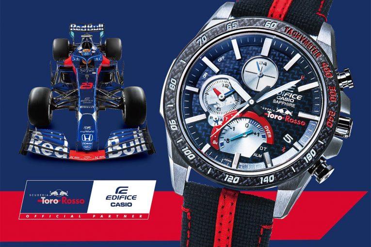 F1 | カシオからスクーデリア・トロロッソとのコラボ薄型クロノグラフが登場。9月発売予定