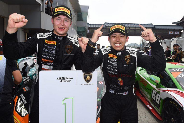 ル・マン/WEC   笠井崇志、ランボルギーニ・スーパートロフェオ韓国戦で2位&優勝。ランキング首位で終盤戦へ