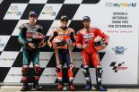 MotoGP | マルケス、3連勝へ向け「リヤタイヤの選択が重要になりそう」/MotoGP第11戦オーストリアGP 予選トップ3コメント