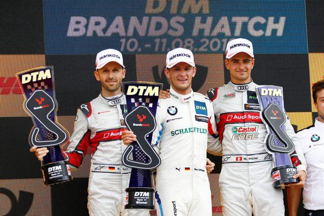 ランキングトップ3が表彰台を獲得したブランズハッチ・レース1