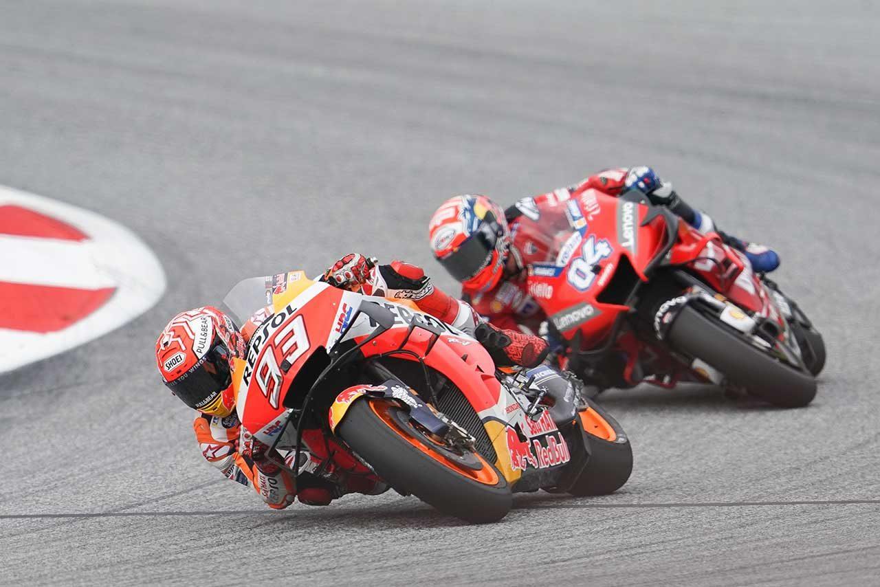 MotoGPオーストリアGP:マルケス、リヤタイヤの選択ミスもレースには満足。「2位を獲得できたのはよかった」