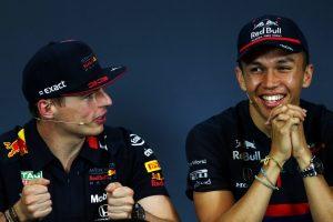 F1 | マックス・フェルスタッペン(レッドブル・ホンダ)とアレクサンダー・アルボン(トロロッソ・ホンダ)
