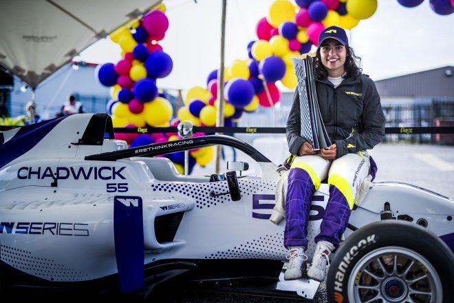 初代Wシリーズチャンピオンのジェイミー・チャドウィック