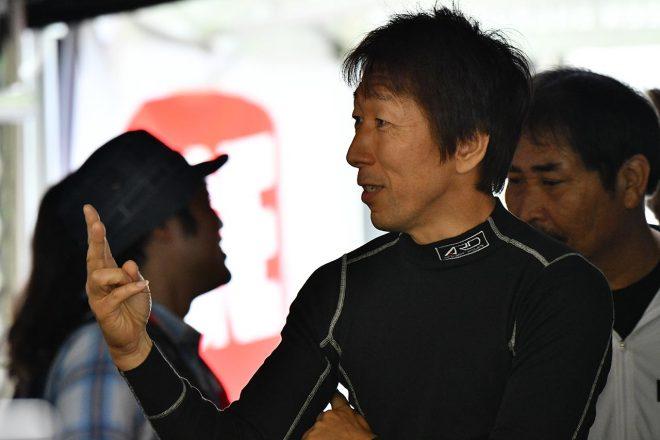 アルファロメオ・ジュリエッタTCRをドライブする前嶋秀司。TCRジャパンでのアルファ初勝利を達成した。