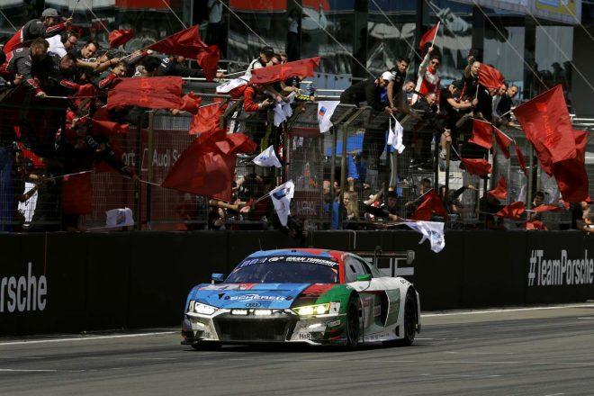 2019ニュルブルクリンク24時間レースで優勝したアウディスポーツ・チーム・フェニックスの4号車アウディR8 LMS