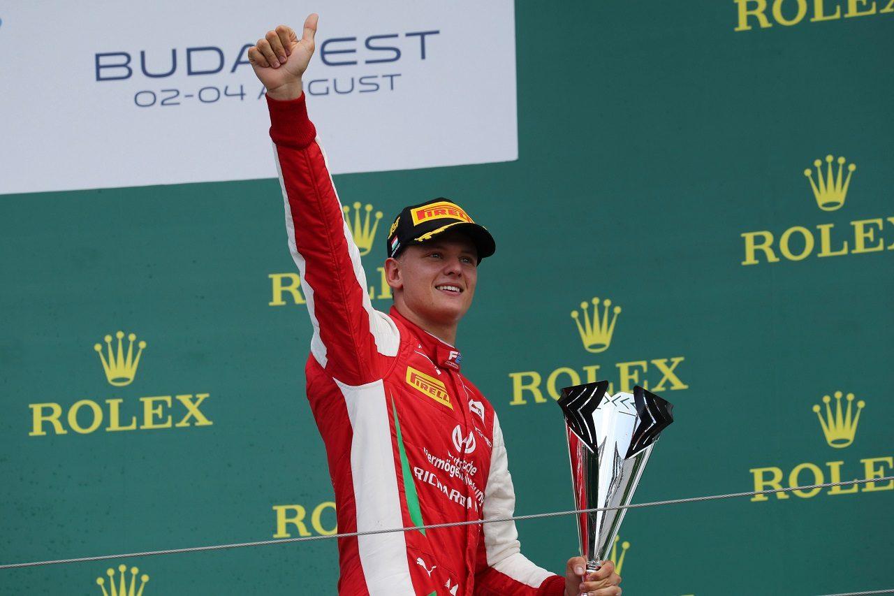 2019年FIA F2ハンガリー戦で優勝したミック・シューマッハー