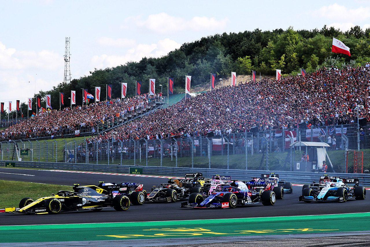 2019年F1第12戦ハンガリーGP スタートシーン