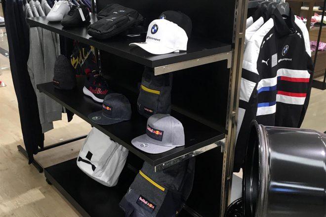 あべのハルカス近鉄本店でスタートしたPUMA MOTORSPORT CAMPAIGNの店内の様子