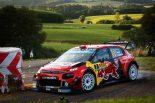 タナクと22ポイント差のランキング2位につけるセバスチャン・オジエ(シトロエンC3 WRC)