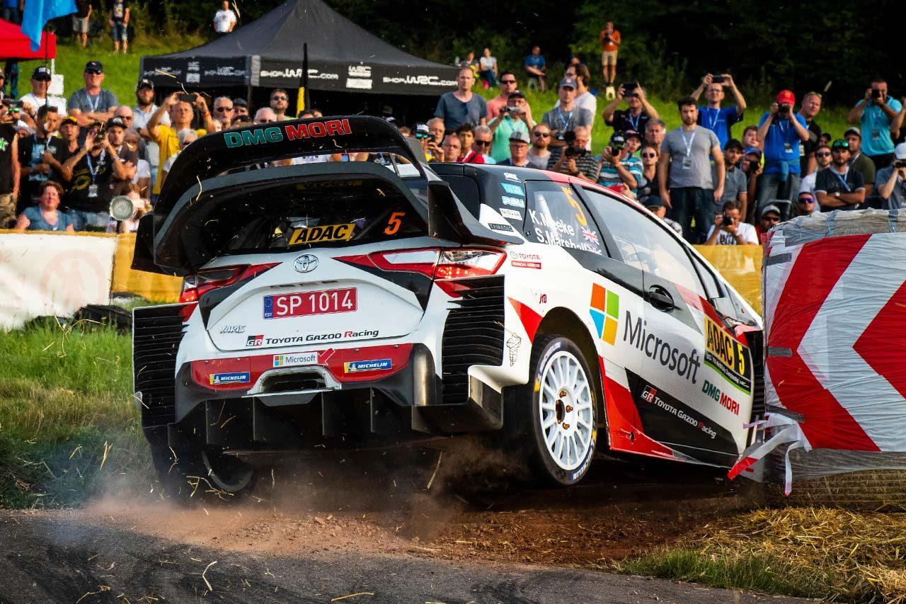 """WRCドイツ:ミラーを飛ばす""""攻めの走り""""でタナクが初日首位。ヤリスで初参戦の勝田貴元は11番手から前を窺う"""
