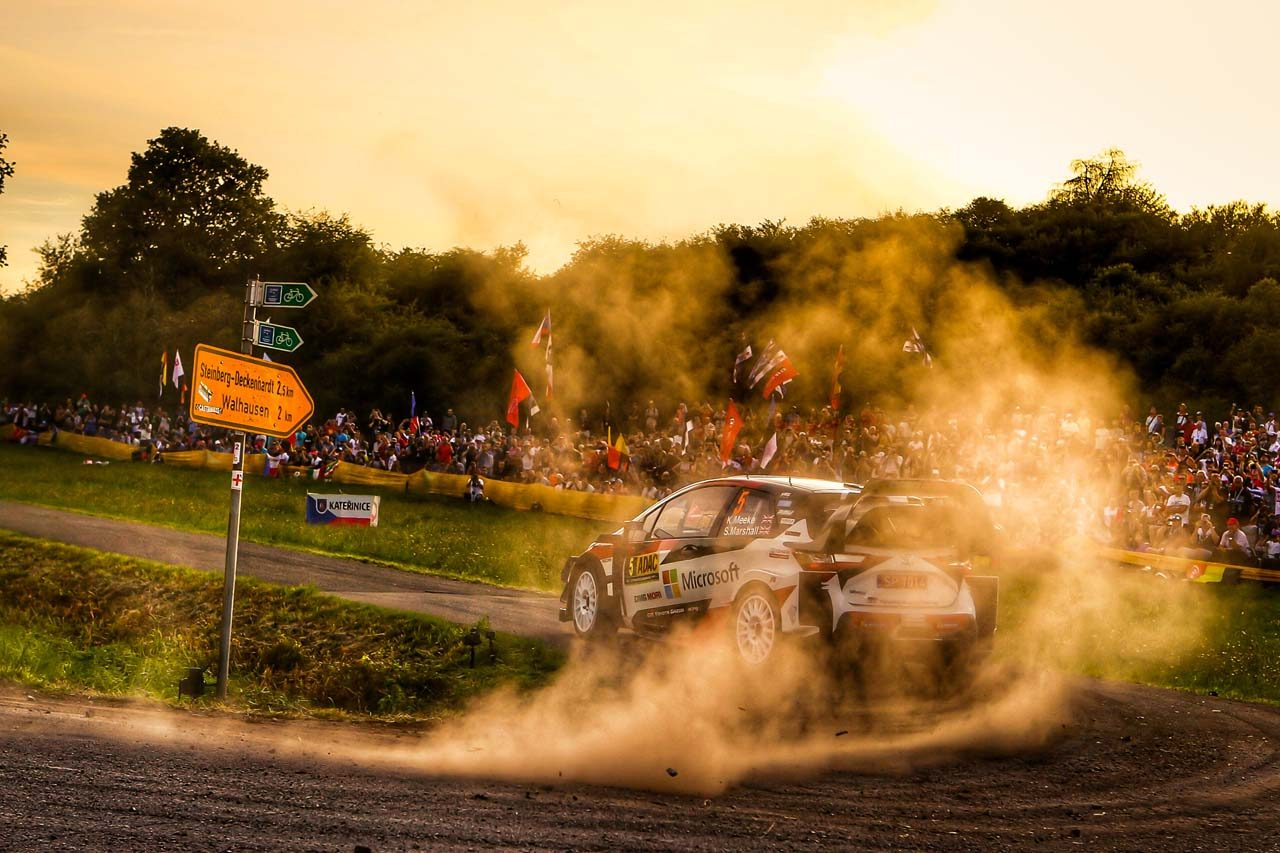 WRCドイツ:サーキットレースのような「普通ではない1日」を、好調タナクが首位で終える