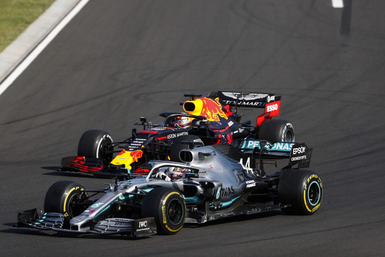 2019年F1ハンガリーGPでのハミルトンとフェルスタッペン