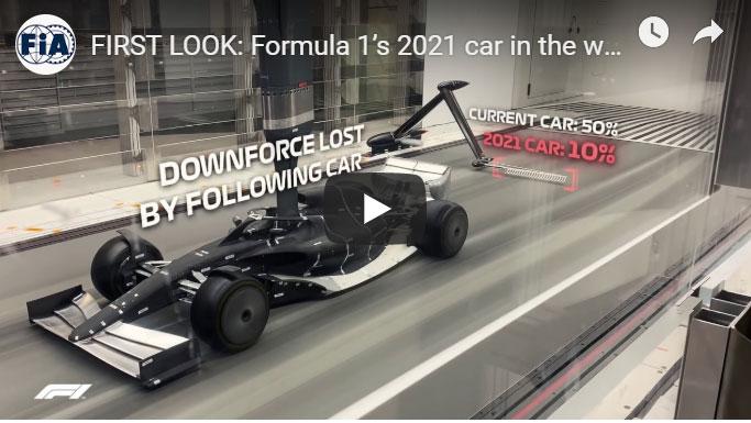 F1、2021年型マシンの空力デザインを風洞実験映像で初公開