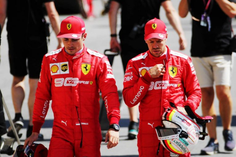F1 | 【フェラーリ前半戦評価】F1タイトル候補最右翼のはずが……。焦りが見えるドライバーたちもミスを連発