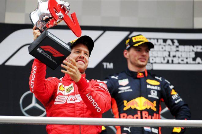 2019年F1第11戦ドイツGPでは最後尾から2位表彰台を獲得したセバスチャン・ベッテル
