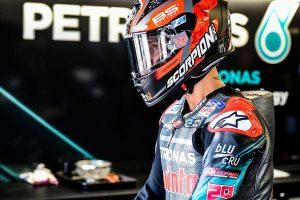 MotoGP   MotoGPイギリスGP:クアルタラロが新舗装路面でレコード更新の初日総合トップ。ヤマハ勢3人がトップ5圏内に