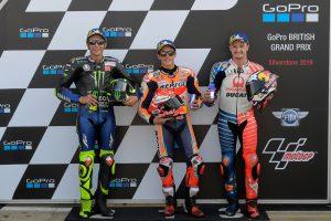 MotoGP | ポールをさらったマルケス「いい戦略を採れた」/MotoGP第12戦イギリスGP 予選/決勝トップ3コメント