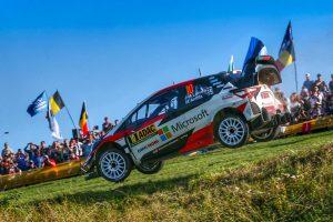ラリー/WRC   WRCドイツ:トヨタ、最終日を前に1-2-3形成。ラトバラ「マキネンから電話でアドバイスを貰った」