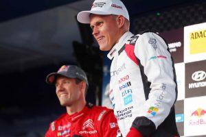 ラリー/WRC   首位を走る重圧のなか「すべての石を避けるのに苦労した」とタナク/2019WRC第10戦ドイツ デイ3後コメント