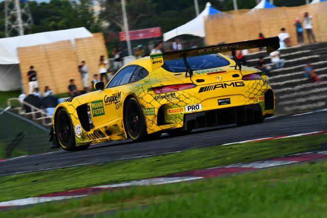 2位に入ったメルセデスAMG・チーム・グループMレーシングの999号車メルセデス
