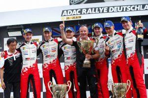 """ラリー/WRC   WRCドイツ:「残り4戦、もっと""""最高の光景""""を」。豊田章男総代表が歴史的勝利掴んだチームを祝福"""