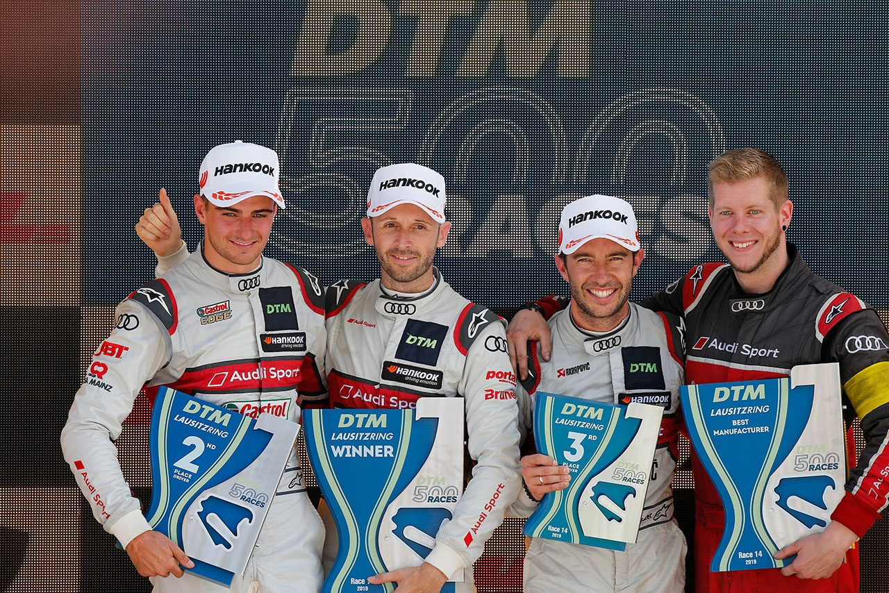 DTM第7戦ラウジッツリンク:通算500戦目の記念レースをラストが完勝。王者争いはミュラーと一騎打ちへ