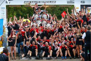 ラリー/WRC   WRC:トヨタ、TMGの本拠ドイツでチーム初1-2-3フィニッシュ達成! マキネン「過去にも似たような状況はあったが……」