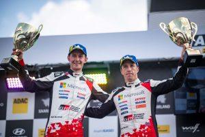 ラリー/WRC   トヨタで初表彰台獲得のミーク「特別な週末になった」/2019WRC第10戦ドイツ デイ4後コメント