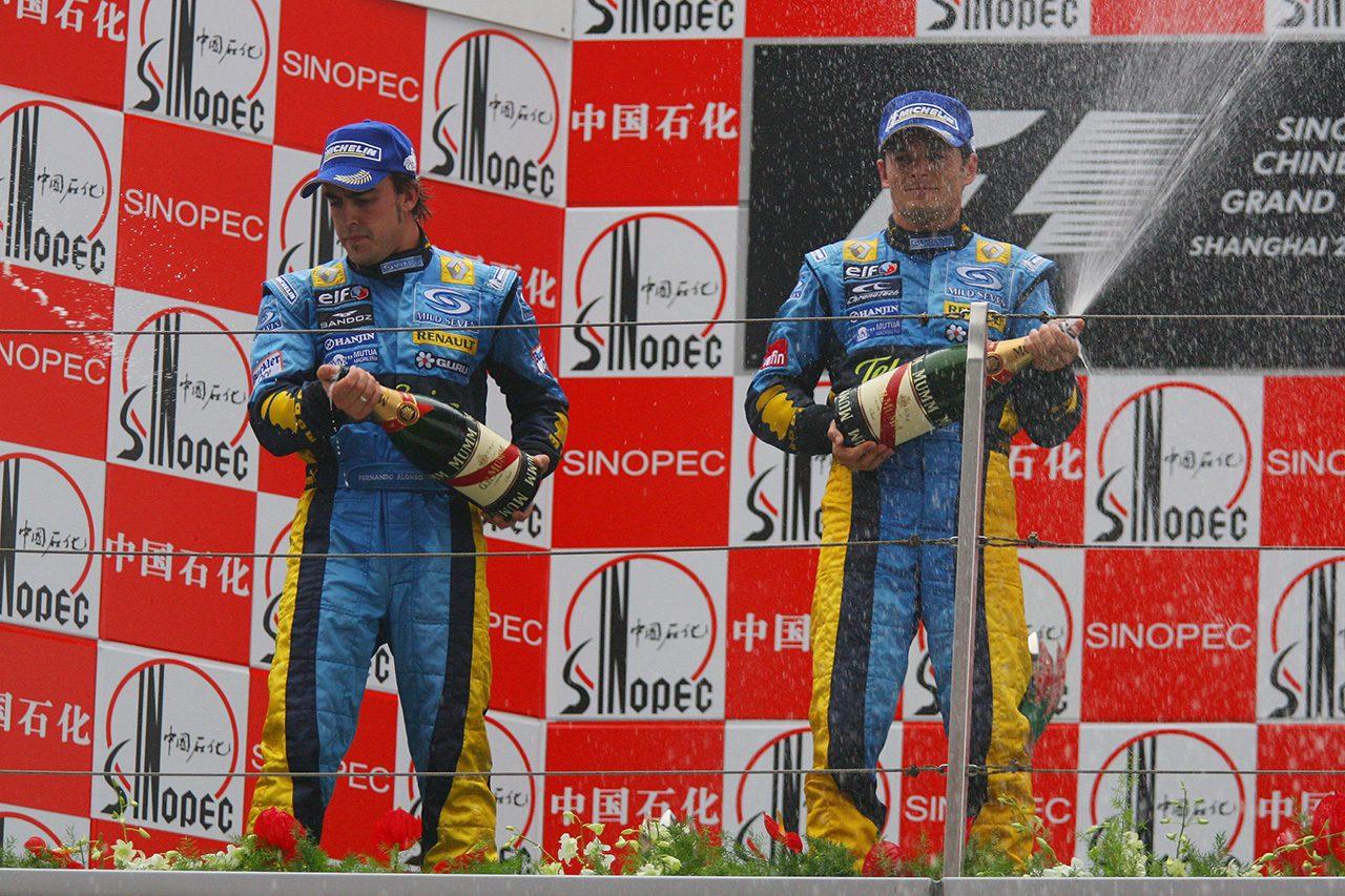 2006年F1第16戦中国GP フェルナンド・アロンソ、ジャンカルロ・フィジケラ(ルノー)