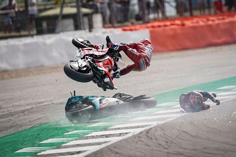 MotoGP | MotoGP:クアルタラロが語る1周目1コーナーのハードクラッシュ。リンスを避けるために「スロットルを閉じた」