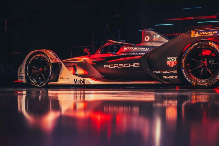 海外レース他 | ポルシェ初のフォーミュラEカーはワークスカラー。『99Xエレクトリック』世界初公開